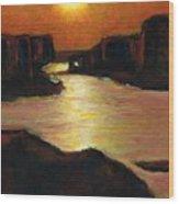 Lake Powell At Sunset Wood Print