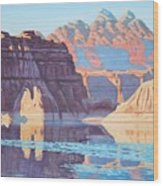 Lake Powell From Shore  Wood Print