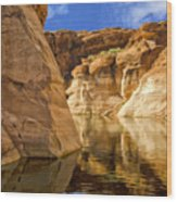 Lake Powell Stillness Wood Print