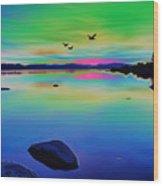 Lake Reflections 2 Wood Print