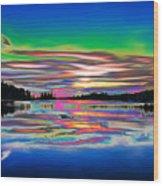 Lake Reflections 3 Wood Print