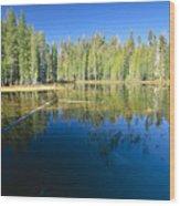 Lake Reflections Yosemite National Park California Wood Print