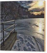 Lake Roland Sunset Wood Print