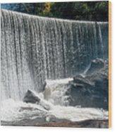 Lake Sequoyah Dam Falls - Highlands, North Carolina Wood Print