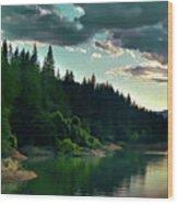 Lake Shasta Painterly Wood Print