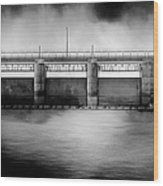 Lake Shelbyville Dam Wood Print