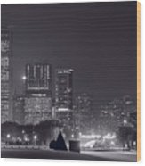Lake Shore Drive Chicago B And W Wood Print