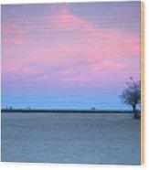 Lake Shore Evening Wood Print
