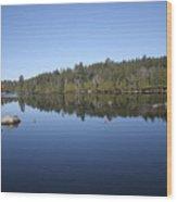 Lake Side View Wood Print