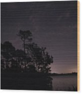 Lake Silhouette Wood Print