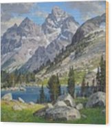 Lake Solitude Wood Print