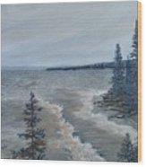 Lake Superior North Shore Waves  Wood Print