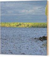 Lake Superior Shoreline After A Brief Storm Wood Print