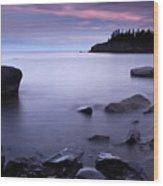 Lake Superior Twilight Wood Print by Eric Foltz