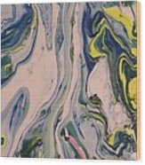 Lake Swirl 3 Wood Print