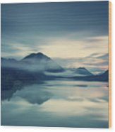Lake Sylvenstein In The Evening Wood Print