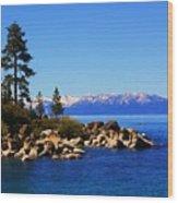 Lake Tahoe At Sand Harbor Wood Print