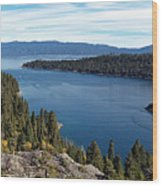 Lake Tahoe Emerald Bay Panorama Wood Print