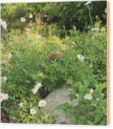 Lake Tahoe Flower Garden Wood Print