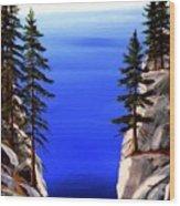 Lake Tahoe Framed Wood Print
