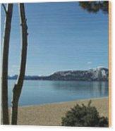 Lake Tahoe Incline Village Blue Sky Reflection Wood Print
