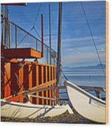 Lake Tahoe Low Water Wood Print