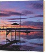 Lake Tahoe Rising Wood Print