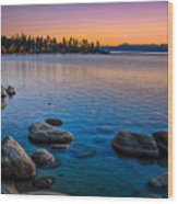 Lake Tahoe State Park Fall Sunset Wood Print by Scott McGuire