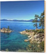 Lake Tahoe State Park Nevada Wood Print