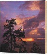 Lake Tahoe Sundown 2 Wood Print