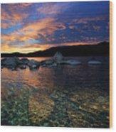 Lake Tahoe Sundown Wood Print