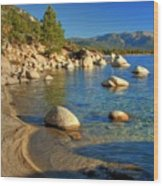 Lake Tahoe Tranquility Wood Print by Scott McGuire