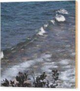 Lake Tahoe Waves Wood Print