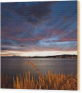 Lake Taupo Sunset Wood Print