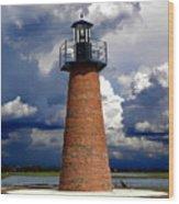Lake Toho Lighthouse 002  Wood Print