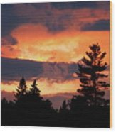 Lake Umbagog National Wildlife Refuge Sunset  Wood Print