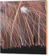 Lake Union July 4th Pb003 Wood Print by Yoshiki Nakamura