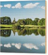 Lake View  Wood Print