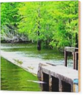 Lake Waccamaw Dam Wood Print