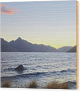 Lake Wakatipu At Sunset Wood Print