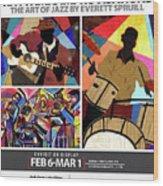 Rhythmic Improvisations - The Art of Jazz Wood Print