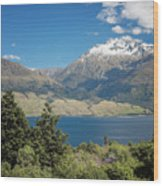 Lake Wanaka New Zealand Iv Wood Print