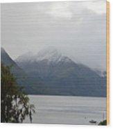 Lake Wanaka On A Rainy Spring Day Wood Print