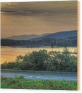Lake Washington And Route 209 Wood Print