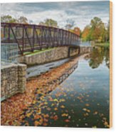 Lake Waterford Fall Waterscape Wood Print