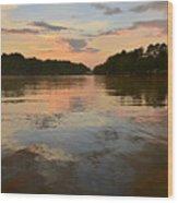 Lake Wedowee Alabama At Sunset Wood Print