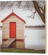 Lake Wendourie Boathouse Wood Print