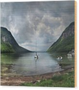 Lake Willoughby  Panorama One Wood Print