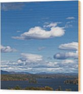 Lake Winnipesaukee New Hampshire In Autumn Wood Print