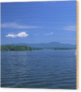 Lake Winnipesaukee Summer Day Wood Print by John Burk